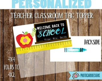 Welcome Back to SCHoOL Treat Bag Topper, Teacher Class Printable, School Printable, Welcome Back to School tag, Treat Bag, Book Worm