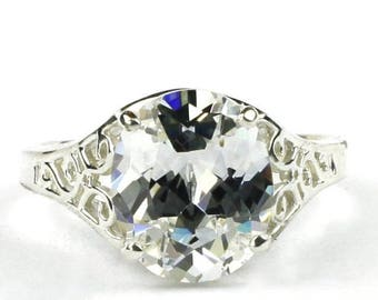 On Sale, 30% Off, Cubic Zirconia (CZ), 925 Sterling Silver Ladies Ring, SR057