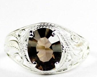 On Sale, 30% Off, Smoky Quartz, 925 Sterling Silver Ladies Ring, SR083