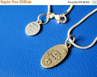 SALE Love and Peace Necklace