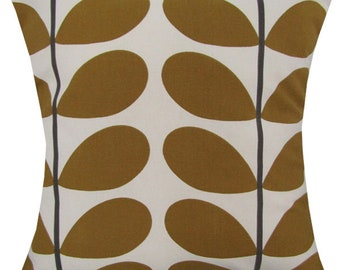 "Designer handmade olive stem floral retro scandinavian 16 - 24"" cushion cover"