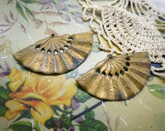 Vintage Asian Fan Stampings