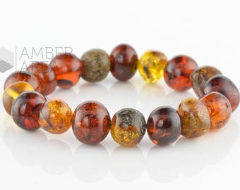 Baltic Amber Bracelet Adults // 7271