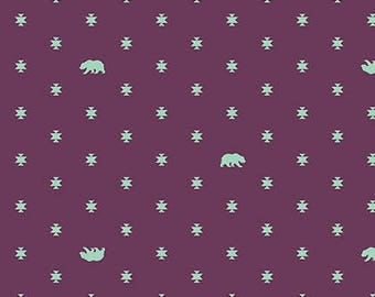 Bear Hug in Lunar Glow by Tula Pink from the Spirit Animal collection for Free Spirit #PWTP-101-Lunar
