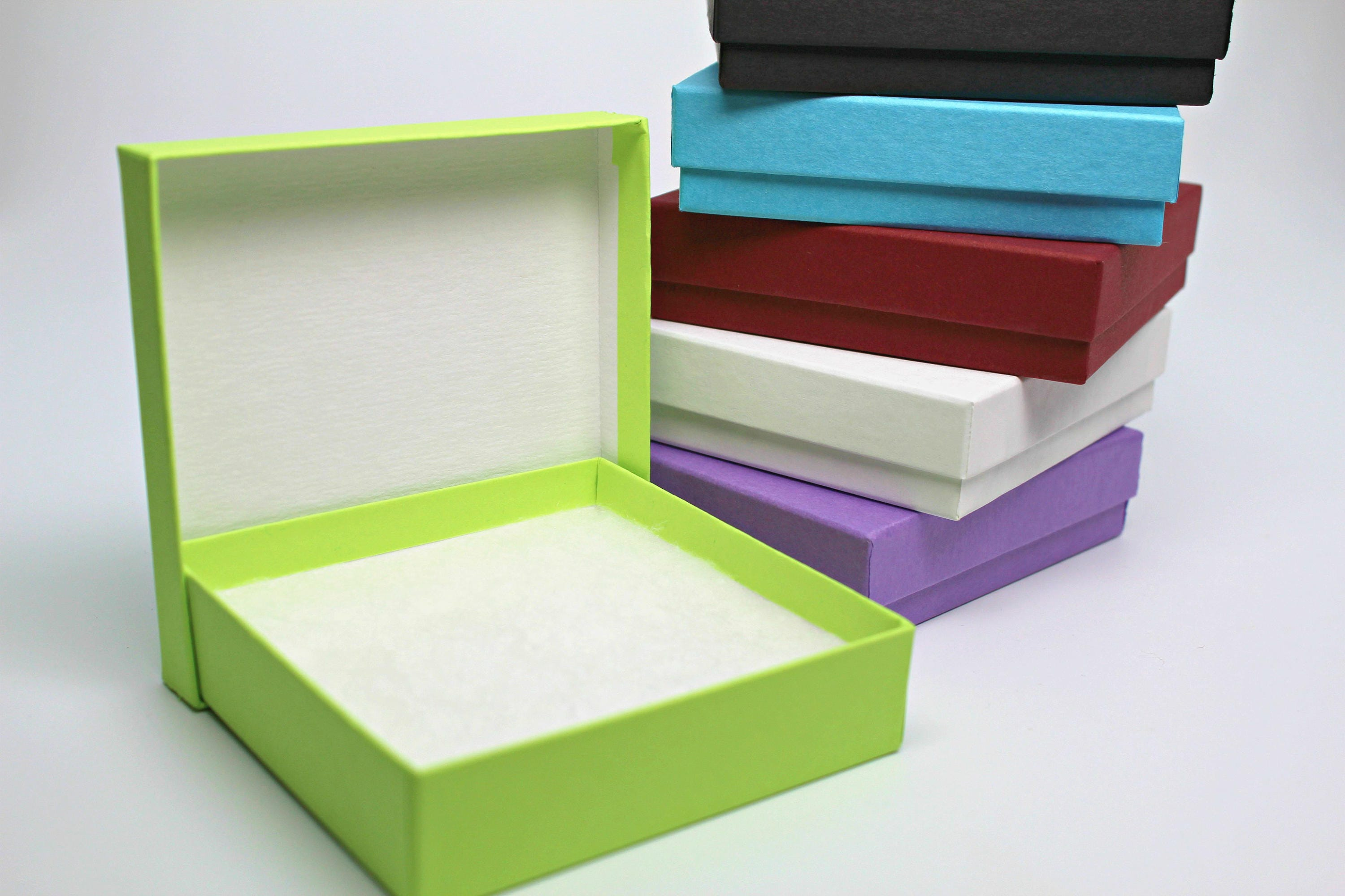 Kraft jewelry boxes with lids assorted gift or display for Small cardboard jewelry boxes with lids