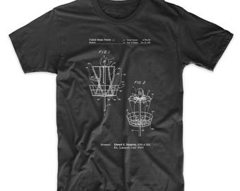 Disk Golf Basket 1988 Patent T Shirt, Frisbee Golf, College Shirt, Unique Gift Ideas, Sports Shirt, PP0783