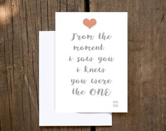 Love Card | Love at First Sight | Card for Her | Card for Him |Anniversary Card | Wedding Card | You Are the One