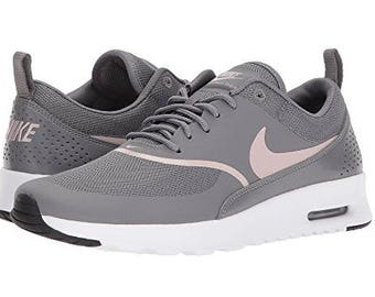 Bling Nike Air Max Thea Made with SWAROVSKI® Crystals - Gunsmoke/Particle Rose/White/Black