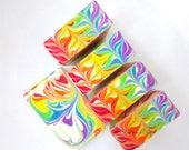 Rainbow Yuzu Swirls Organic Luxury Body Bar Soap / Handcrafted Natural Soap/ Goats Milk Soap / Beer Soap / Artisan Soap / Whipped Upp / Lush