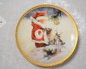 Santas Littlest Reindeer Lisi Martin Christmas Collectible Plate Hamilton Collection Numbered Limited Edition Christmas PanchosPorch