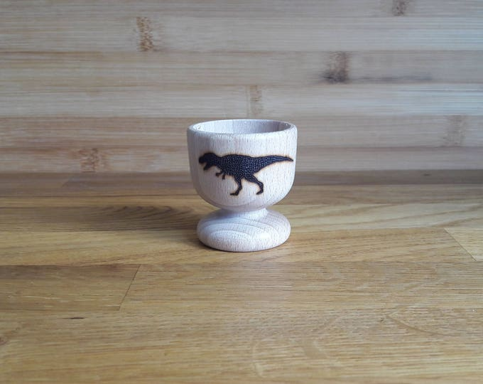 Featured listing image: T-Rex Wooden Egg Cup