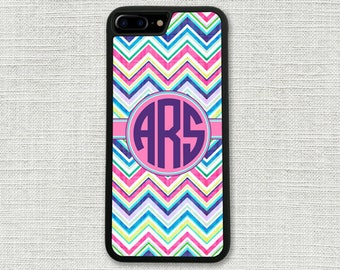 Personalized women's iPhone 6 Plus Case, iPhone 7 Case, Chevron iPhone 6S, iPhone Accessory, Gift for Her, iPhone 6S case, iPhone Case 1223