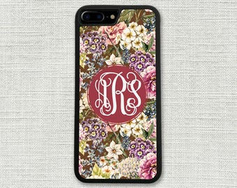 Pink Floral iPhone 8 Case, Floral iPhone 8 Plus Case, Gift for Her, Girlfriend Gift, iPhone 7, 7 Plus, 6/6S, 6/6S Plus, 5/SE 1318