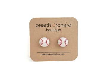 Baseball earrings- Baseball jewelry- Baseball gifts- Baseball accessories- Baseball studs