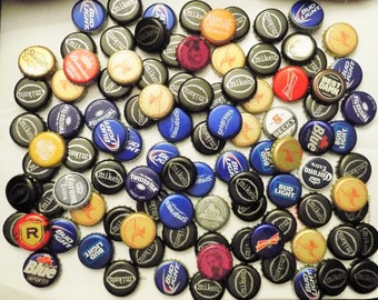 Lot of 100 Beer bottle caps for crafts