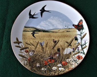 Royal Worcester Limited Edition collectors plate: TheWheatfields in August by Peter Banett.1979