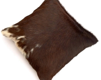 Natural Cowhide Luxurious Hair On Cushion/ Pillow Cover (15''x 15'') A103