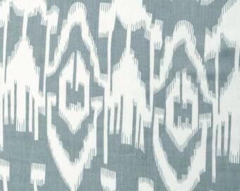 COTTON FABRIC DESIGN 26 -  Grey  Ikat Design