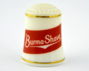 Vintage Franklin Mint Fine Porcelain Burma Shave Thimble
