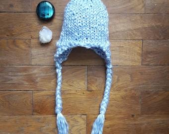 Bonnet péruvien - Bleu clair - 6 mois