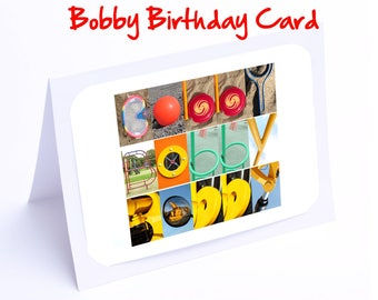 Bobby Personalised Birthday Cards