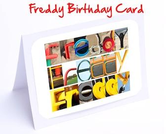 Freddy Personalised Birthday Card
