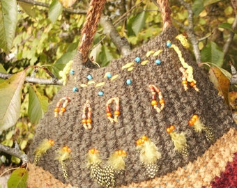 bag crochet wool h 30cm x40cm