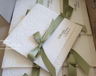 Green invitation | Etsy