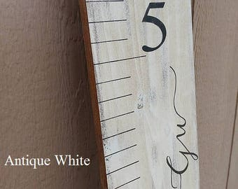 Wooden Growth Chart Rulers