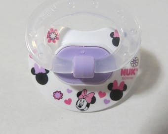 Baby Alive MAGNETIC Pacifier Customized for MY Baby ALIVE 2010 Interactive Doll - Disney Minnie Mouse White  - Please read description
