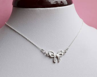 """Necklace Silver 925 """"bow"""""""