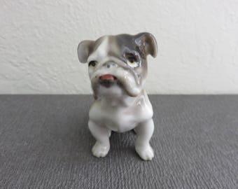 Vintage Ceramic Spotted English Bulldog Figurine Japan