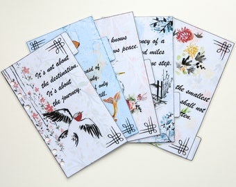 Personal Size Filofax dividers - set of 5 handmade and laminated