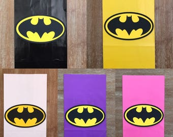 Batman Birthday Favor Candy Party Goody Bags