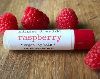 Raspberry Lip Balm - Raspberry -  Lip Balm - Vegan Lip Balm - Beeswax Lip Balm - Fresh Picked Collection