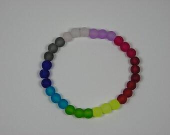 Multicolored Sea Glass Bracelet