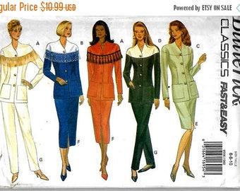 25% OFF Butterick 6906    Misses/Petites Top, Skirt, Pants     Size 6-10 0r 12-16  Uncut