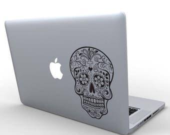 JULY SALE Dia De Los Muertos, Sugar Skull Decal Sticker, Custom Wall Decal macbook pro 13 sticker apple macbook decal skin decor sticker
