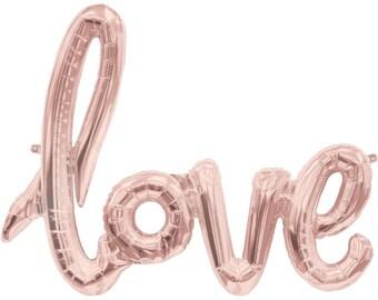 "40"" Foil balloon, love, rose gold balloon, red balloon, love foil balloon, wedding balloon, bachelorette balloon"