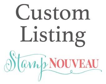"""3"""" x 4"""" Custom Stamp"""