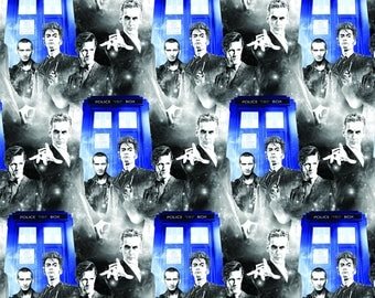 PRE-ORDER LIMITED - 2017 Springs Creative Release - Dr. Who 59343 Police Public Call or Dr. Who 61772 Comic Book Toss – 100% Cotton Woven