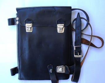 Vintage Real Thick Leather Shoulder Bag/Soviet Officer Military Bag/Cold War Officer Bag/1970s