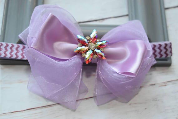 Special occasion lilac bow headband - Baby / Toddler / Girls / Kids Headband / Hairband / Hair bow / Barrette / Hairclip