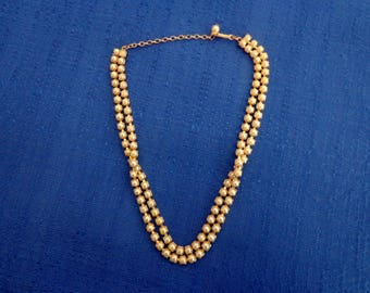 Listner Pearl Necklace, Double Strand Pearl Choker Necklace,Listner Gold Choker Necklace