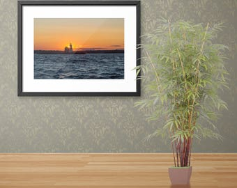 Sunset at Execution Rocks Fine Art Print,  Oversized Wall Art, Contemporary Art, Sunset At Long Island Sound Photography,SeaScape Print