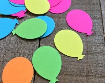Neon Balloon Confetti / Party Confetti / Balloon Table Decor / Balloon Party Table Scatter / 100 Pieces