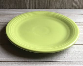 "Vintage Fiesta - 7"" Dessert / Salad Plate - Chartreuse"