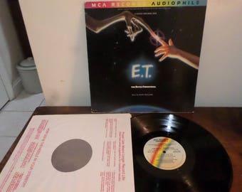 Vintage 1982 Vinyl LP Record ET The Extra Terrestrial Original Motion Picture Soundtrack  RARE Audiophile Pressing 13634