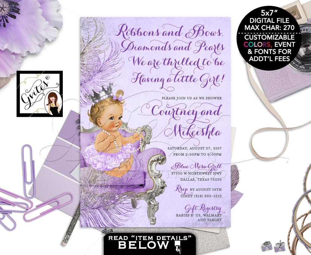 Purple Baby Shower Invitations. Photo Baby Shower Invitations ...