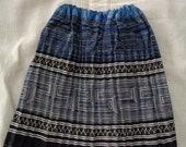 Vietnam Hmong Embroidered Cotton Batik Girl Dress